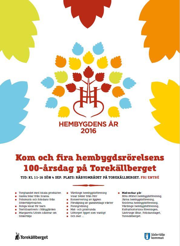 Afficsh 100 årsdag Torekällberget