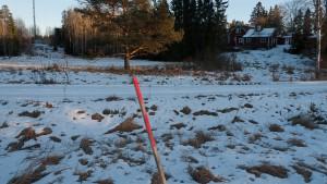 Oslänkens läge längs motorvägen nedanför Ekeby gammelgård