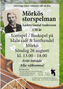 Jubileum för spelmannen Anders Gustaf Andersson @ Idala | Stockholms län | Sverige